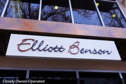 image of Elliott Benson sign