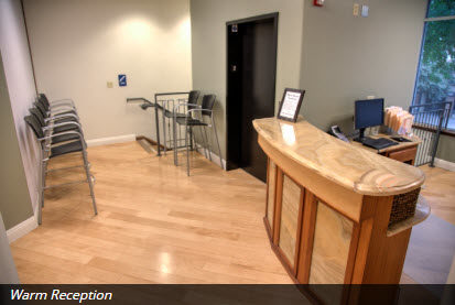 image of reception area